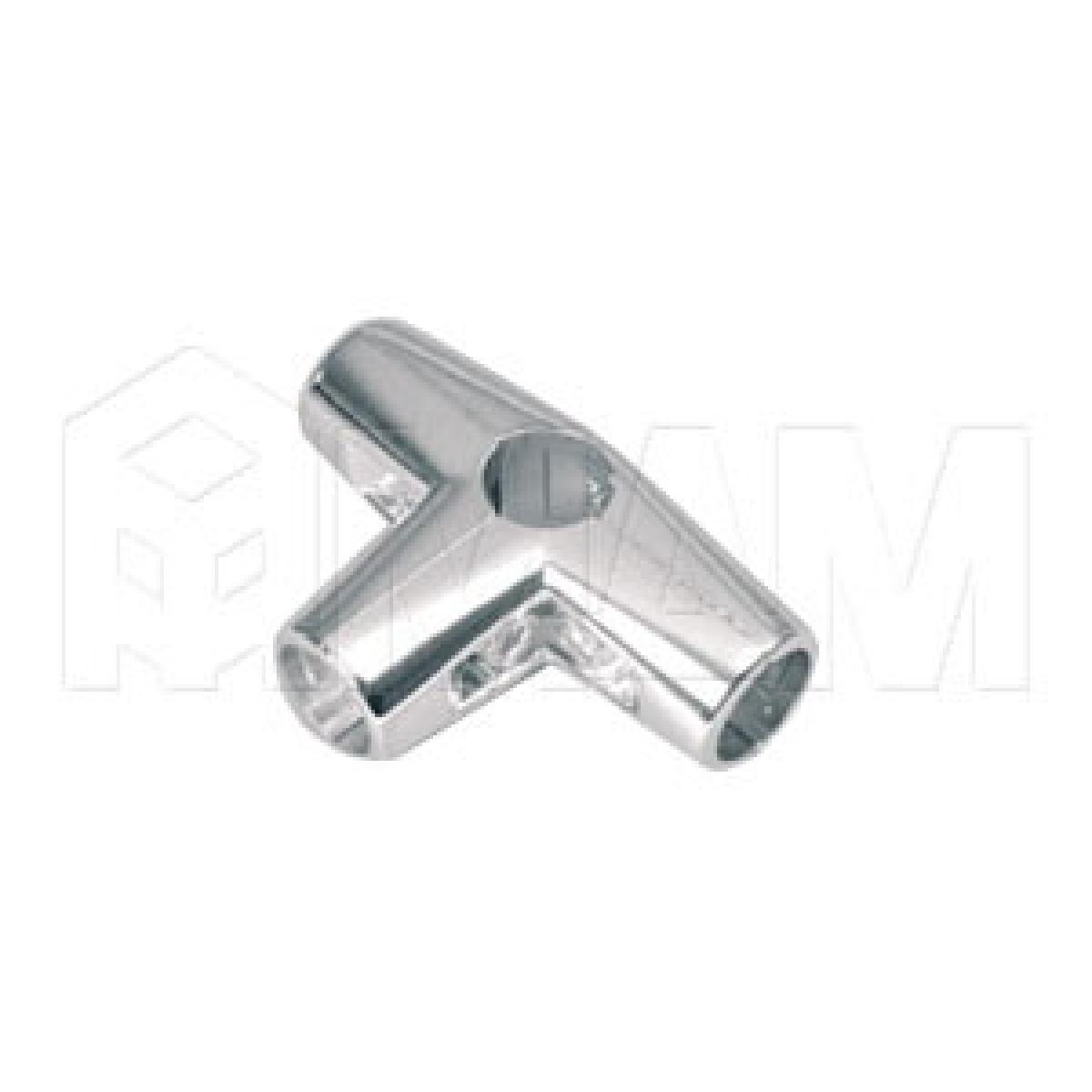 Угловой соединитель 4-х труб , хром