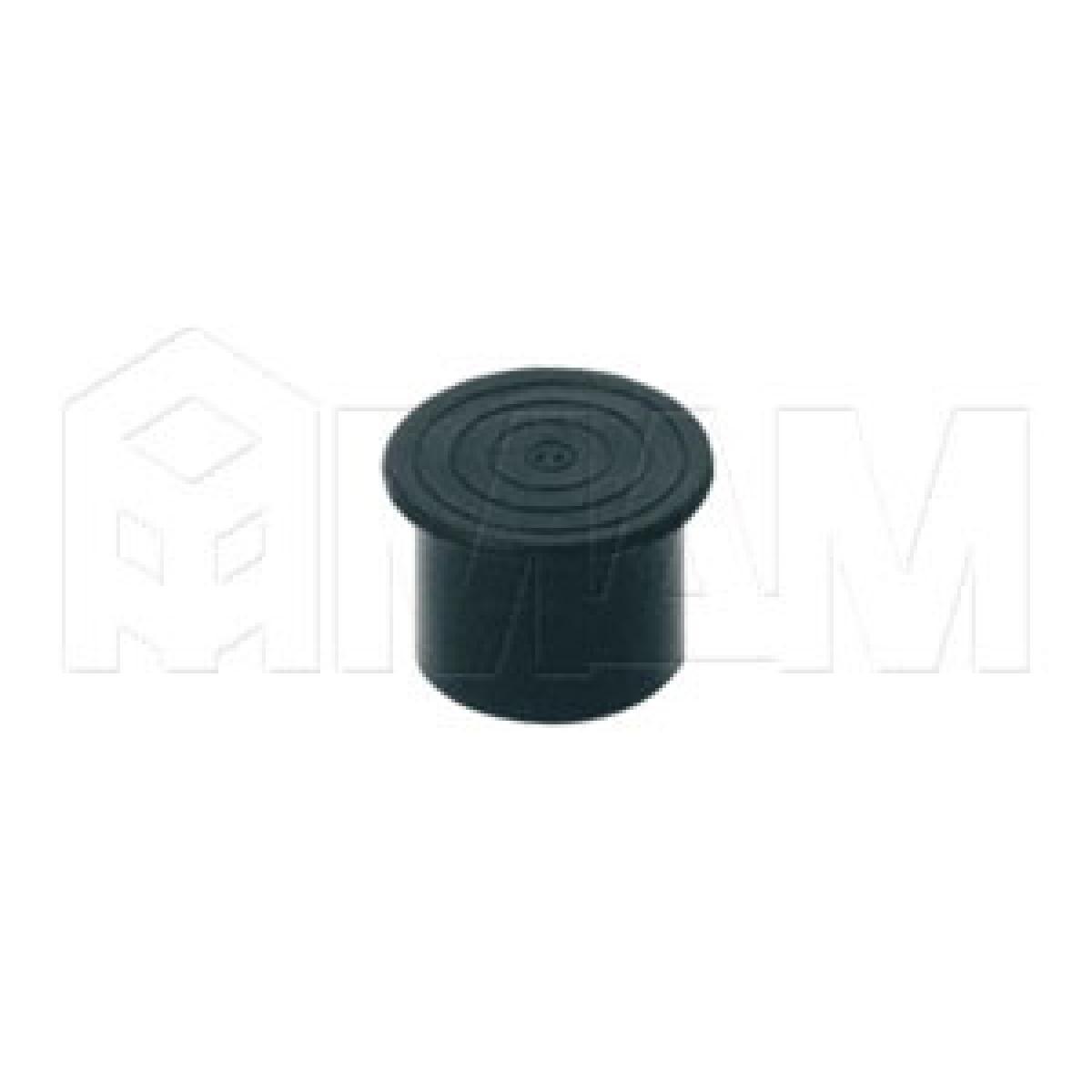 Заглушка-ножка (пластиковая, D=25мм) черный