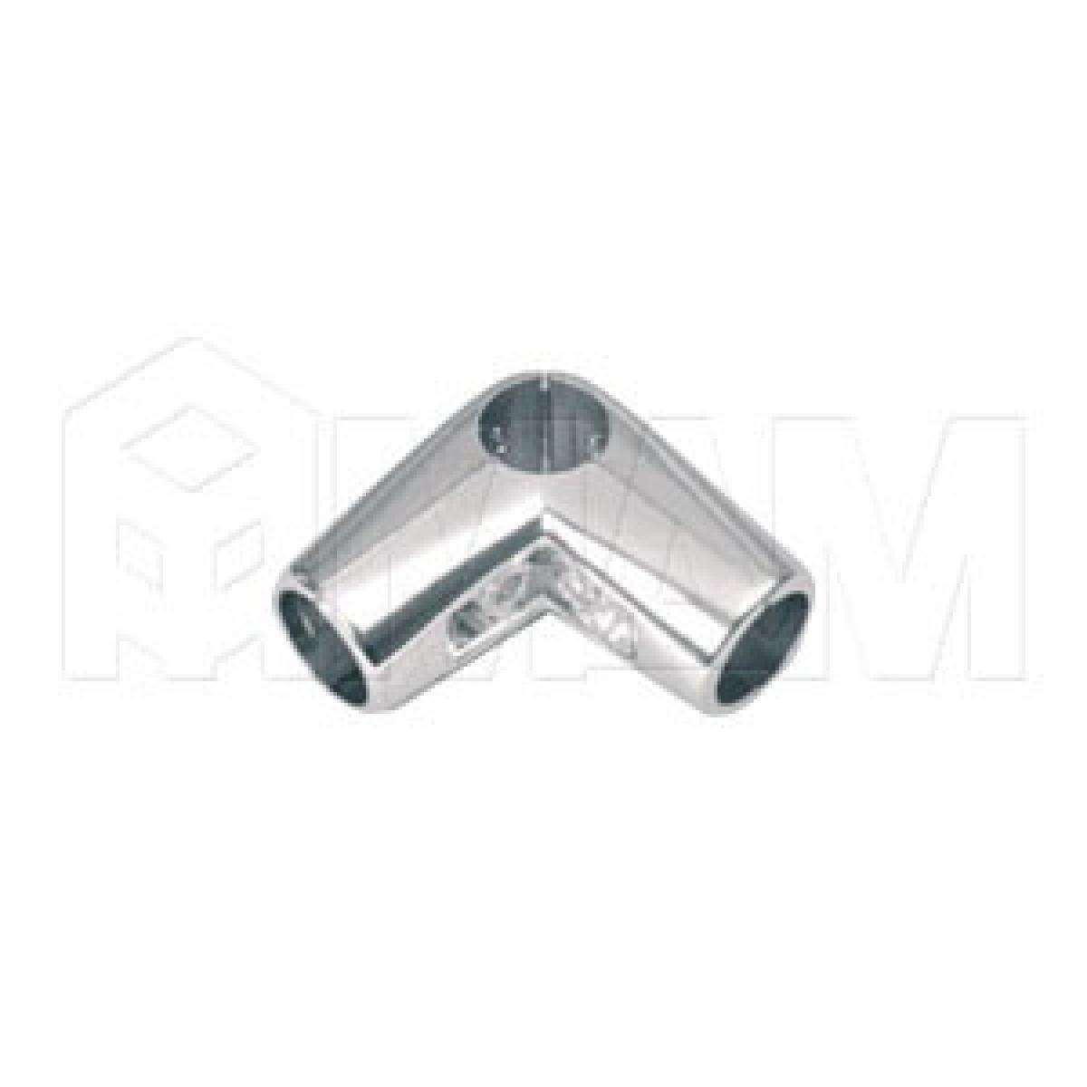 Соединитель угловой 3-х труб, хром