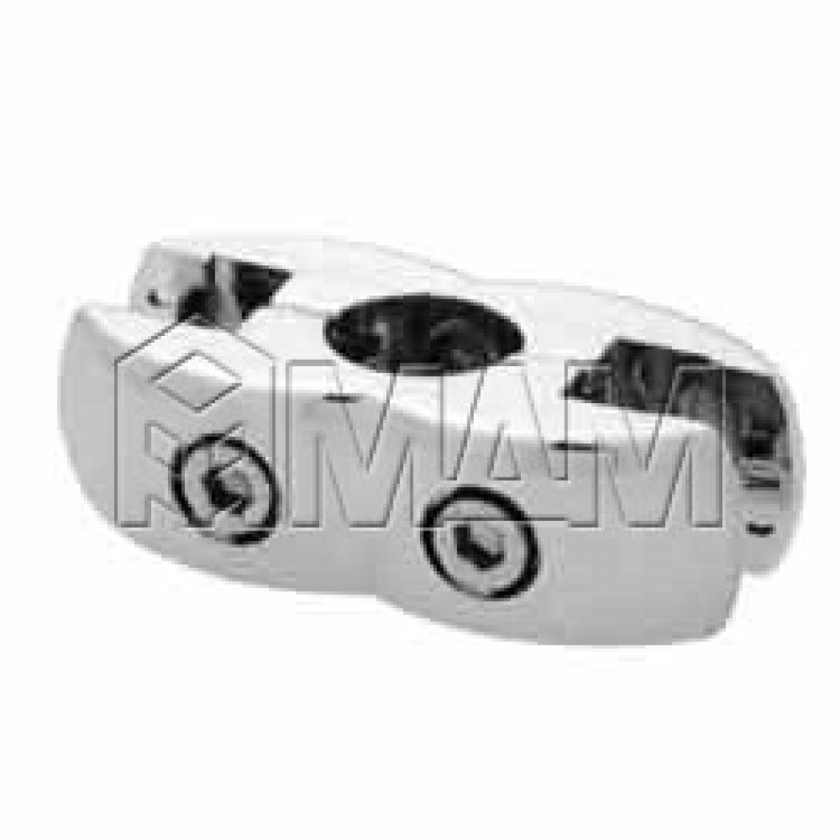 Держатель (для панели и стекла, двусторонний) хром с уплотнителем
