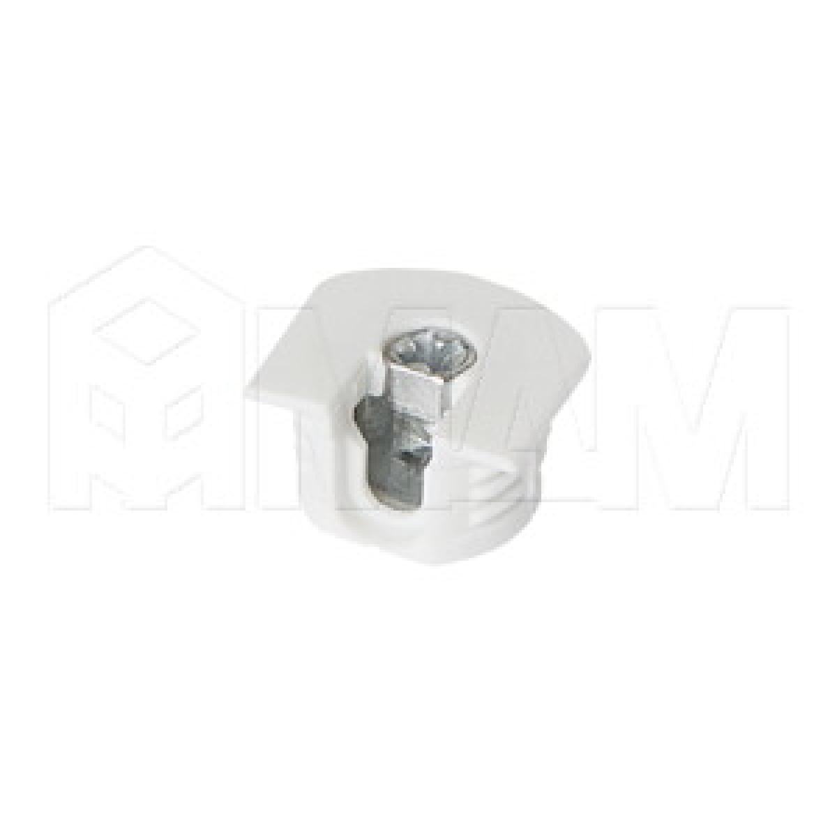 Эксцентрик усиленный в пластиковом корпусе 16 мм с бортиком, белый