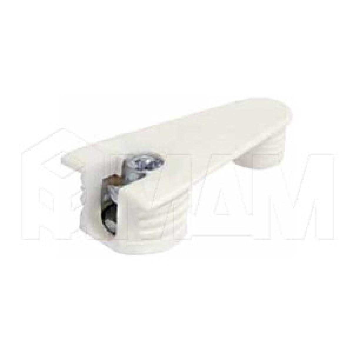 Эксцентрик усиленный в пластиковом корпусе с дополнительной футоркой 16 мм, белый