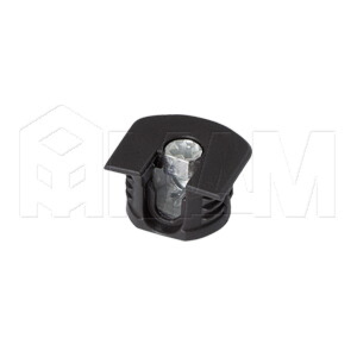 Эксцентрик усиленный в пластиковом корпусе 16 мм с бортиком, черный