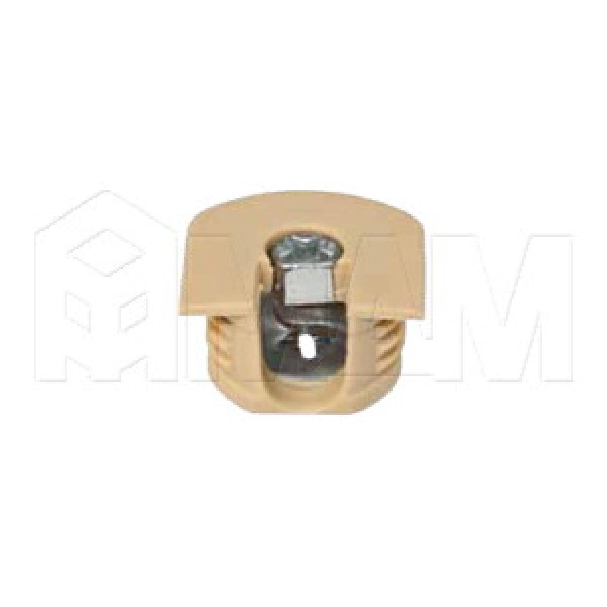 Эксцентрик усиленный в пластиковом корпусе 16 мм, бежевый
