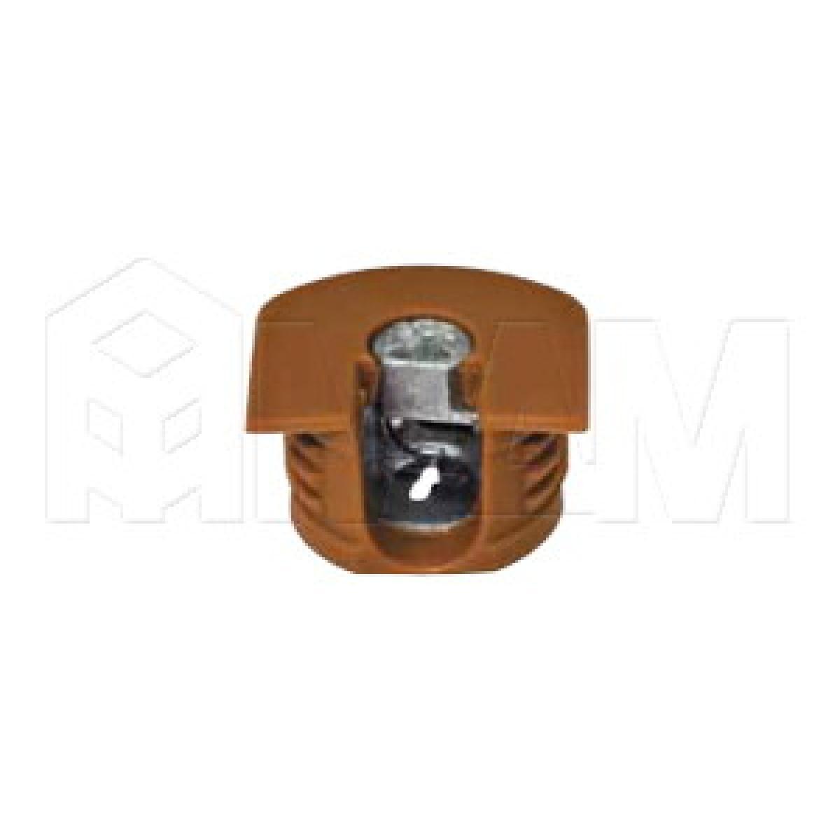 Эксцентрик усиленный в пластиковом корпусе 16 мм, вишня