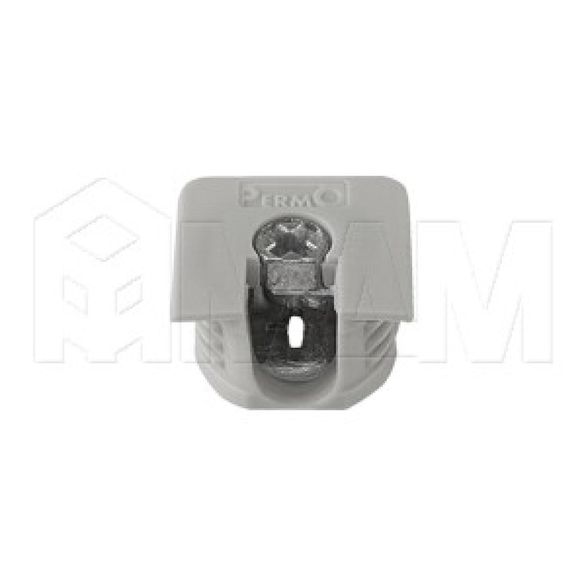 Эксцентрик усиленный в квадратном пластиковом корпусе 16 мм, серый