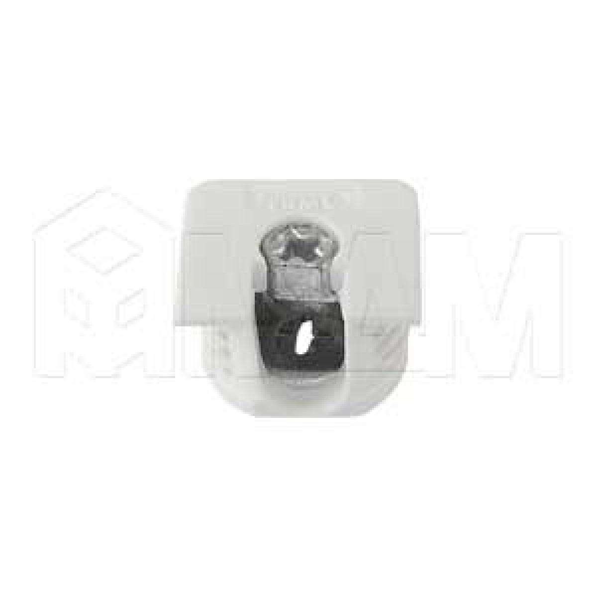 Эксцентрик усиленный в квадратном пластиковом корпусе 16 мм, белый