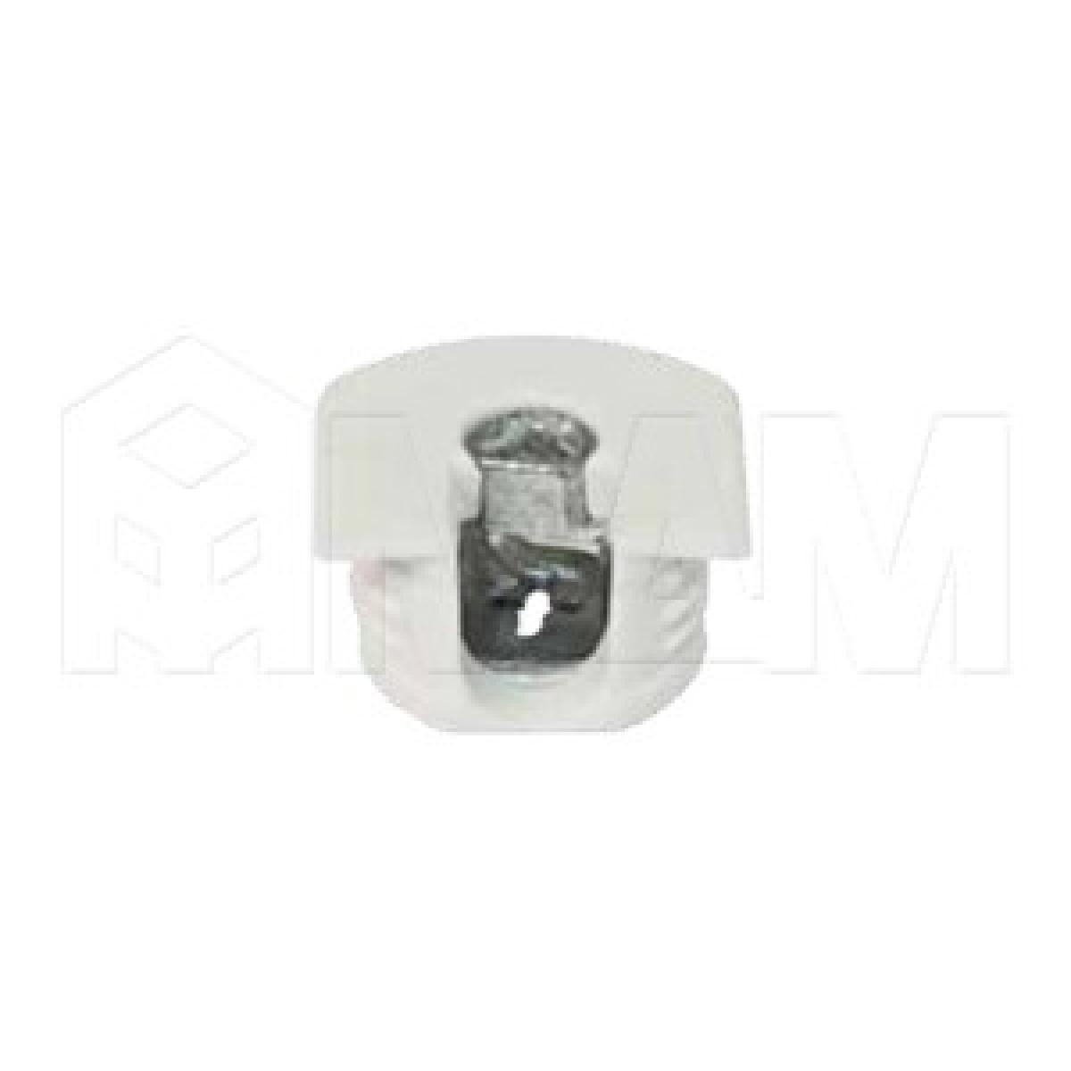 Эксцентрик усиленный в пластиковом корпусе 16 мм, белый
