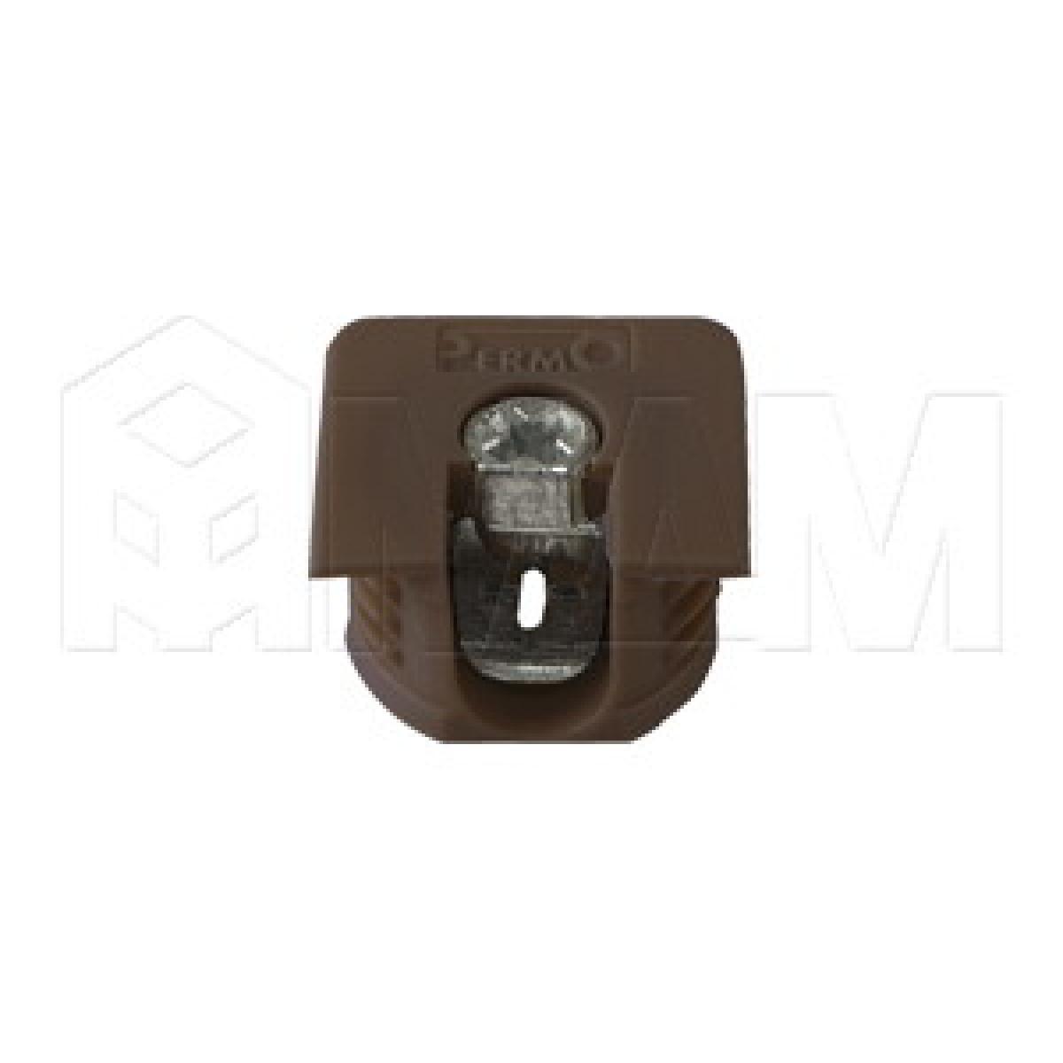 Эксцентрик усиленный в квадратном пластиковом корпусе 16 мм, коричневый