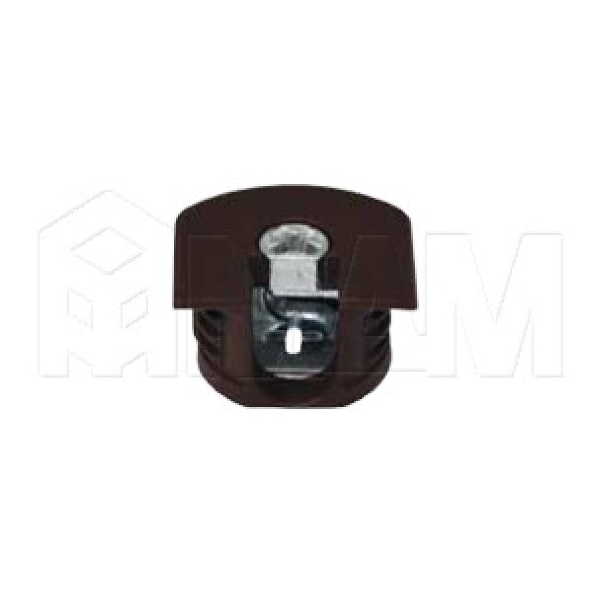 Эксцентрик усиленный в пластиковом корпусе 16 мм, коричневый